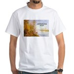 Alfred Sisley Nature Quote White T-Shirt