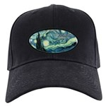 Starry Night Vincent Van Gogh Black Cap