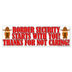 Please Care About Border Security Bumper Sticker