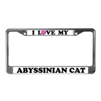 Abyssinian Cat License Plate Frames