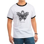 Diabetes Tribal Butterfly Ringer T