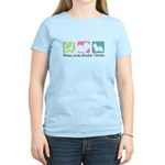 Peace, Love, Norwich Terriers Women's Light T-Shir