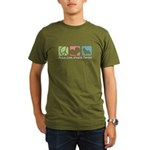 Peace, Love, Norwich Terriers Organic Men's T-Shir