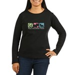 Peace, Love, Norwich Terriers Women's Long Sleeve