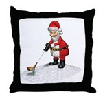 Golfing Santa Claus Throw Pillow