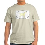 Yellow Lab Outline Ash Grey T-Shirt