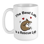 Best Rescue Lab Large Mug