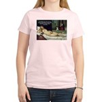 Freud Erotic Quote and Titian Women's Pink T-Shirt