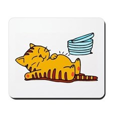 Funny Fat Cat Mousepad