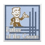 Deco Father of the Groom Tile Coaster