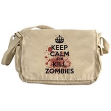 Keep Calm and Kill Zombies Messenger Bag