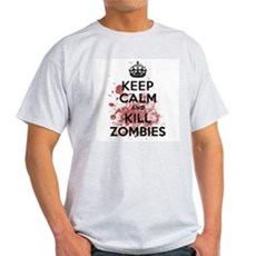 Keep Calm and Kill Zombies Light T-Shirt