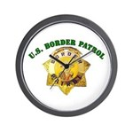 Border Patrol Badge Wall Clock