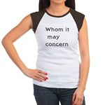 Whom It May Concern Women's Cap Sleeve T-Shirt