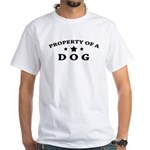 Property of Dog White T-Shirt