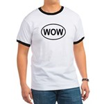 Wow Funny European Oval Ringer T