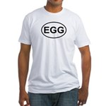Egg European Oval Fitted T-Shirt
