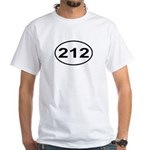 212 New York City Area Code White T-Shirt