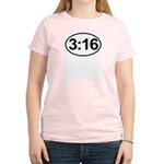 John 3:16 Christian Bible Verse Women's Light T-Sh