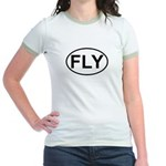 Fly Pilot Flying European Oval Jr. Ringer T-Shirt