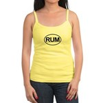 Rum Booze Alcohol Drink Oval Jr. Spaghetti Tank