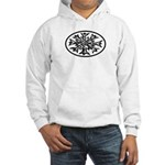Snowflake Winter European Oval Hooded Sweatshirt