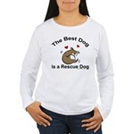 Best Rescue Dog Women's Long Sleeve T-Shirt