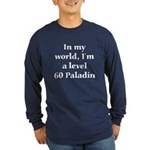 Level 60 Paladin Long Sleeve Blue T-Shirt