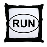 Run Runner Running Track Oval Throw Pillow