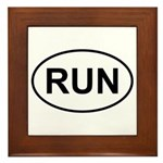 Run Runner Running Track Oval Framed Tile