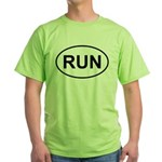 Run Runner Running Track Oval Green T-Shirt