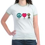 Peace Love & Labs Jr. Ringer T-Shirt