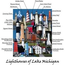 Lighthouses of Lake Michigan T-Shirt