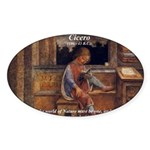 Cicero: God Nature Oval Sticker
