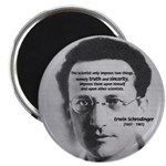 "Erwin Schrodinger: Truth 2.25"" Magnet (100 pack)"