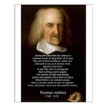 Thomas Hobbes: War Small Poster