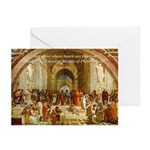 Raphael School of Athens Greeting Cards (Package o
