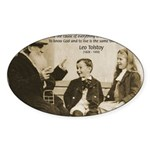 Leo Tolstoy: God Quotes Oval Sticker