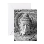 Buddha Buddhism Quote Picture Greeting Cards (Pack