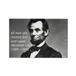 Abraham Lincoln Rectangle Magnet (10 pack)