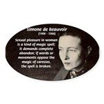 Simone De Beauvoir Oval Sticker