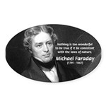 Michael Faraday Oval Sticker