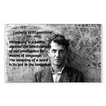 Ludwig Wittgenstein Rectangle Sticker