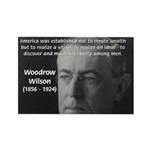 Woodrow Wilson Rectangle Magnet (100 pack)
