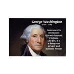 Politics: George Washington Rectangle Magnet (100