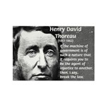 Philosophy / Nature: Thoreau Rectangle Magnet (10