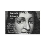 Philosopher Baruch Spinoza Rectangle Magnet