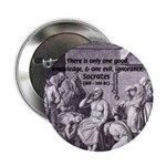 """Death of Socrates 2.25"""" Button (100 pack)"""