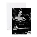 Mary Shelley Frankenstein Greeting Cards (Package