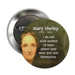 "Novelist Mary Shelley 2.25"" Button (100 pack)"